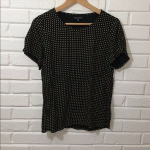 Rare Madewell Black and Gold Checkered Shirt